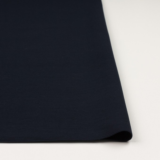 リヨセル&アクリル混×無地(ダークネイビー)×かわり編み イメージ3