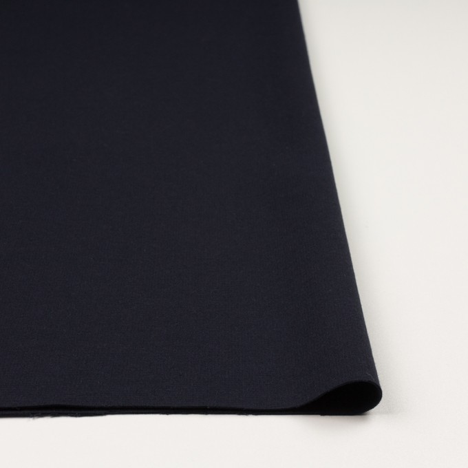 レーヨン&ポリエステル×無地(ダークネイビー)×Wニット イメージ3