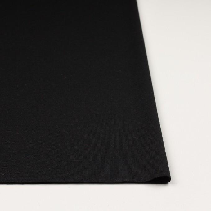 ウール×無地(ブラック)×天竺ニット イメージ3