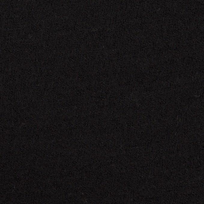 ウール&アクリル×無地(ブラック)×Wニット イメージ1