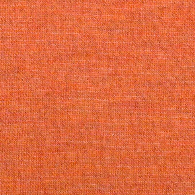 ウール×無地(オレンジ)×Wニット イメージ1