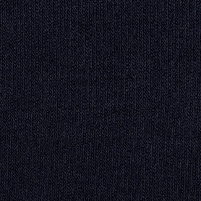 アクリル&ウール混×無地(ネイビー)×かわり編み イメージ1