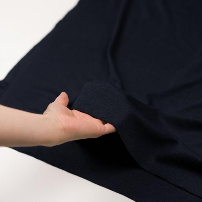 アクリル&ウール混×無地(ネイビー)×かわり編み イメージ5