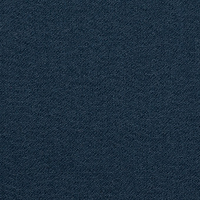 ウール×無地(インクブルー)×サージ イメージ1