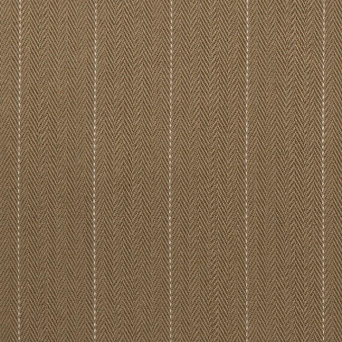 コットン×ストライプ(カフェモカ)×ヘリンボーン イメージ1