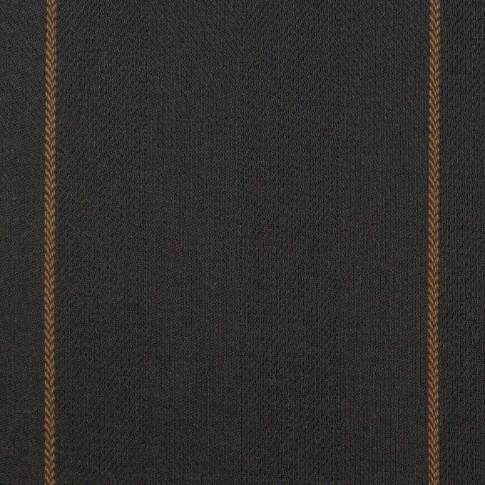 コットン×ストライプ(チャコール&モカ)×ヘリンボーン イメージ1
