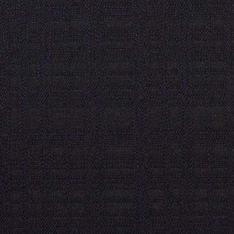 コットン×チェック(ダークネイビー)×ジャガード サムネイル1