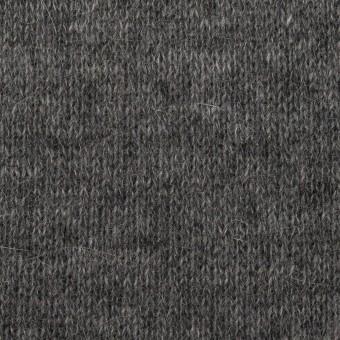 ウール&コットン×無地(チャコールグレー)×リブ&天竺ニット サムネイル1