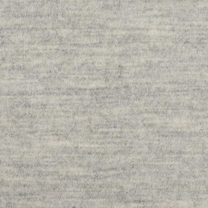 ウール×無地(ライトグレー)×圧縮ニット イメージ1