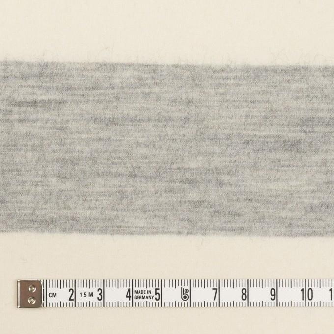 ウール×ボーダー(ミルキーホワイト&ライトグレー)×圧縮ニット イメージ4
