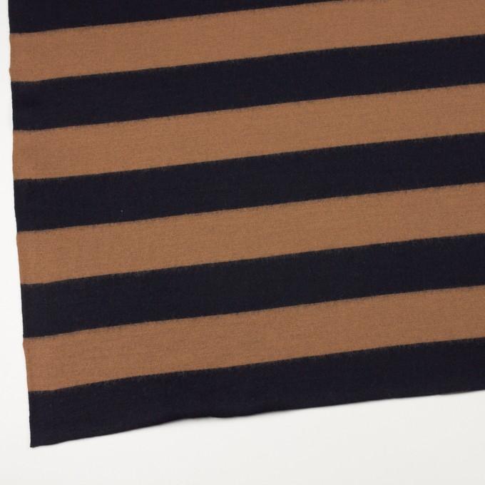 ウール×ボーダー(オークル&ブラック)×天竺ニット イメージ2