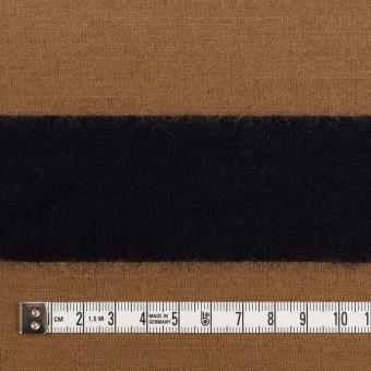 ウール×ボーダー(オークル&ブラック)×天竺ニット サムネイル4