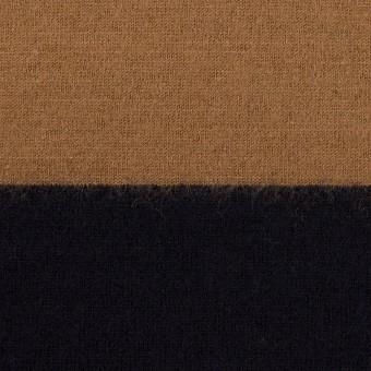 ウール×ボーダー(オークル&ブラック)×天竺ニット