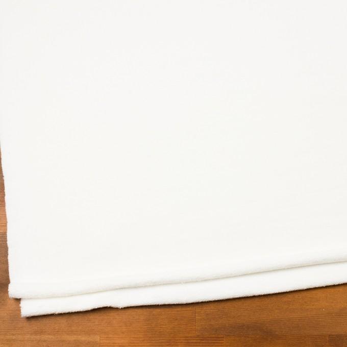 コットン×無地(オフホワイト)×裏毛ニット イメージ2