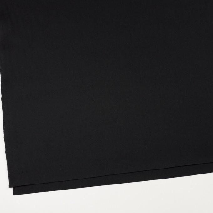 ウール×無地(ブラック)×フラノ(フランネル)_全2色 イメージ2