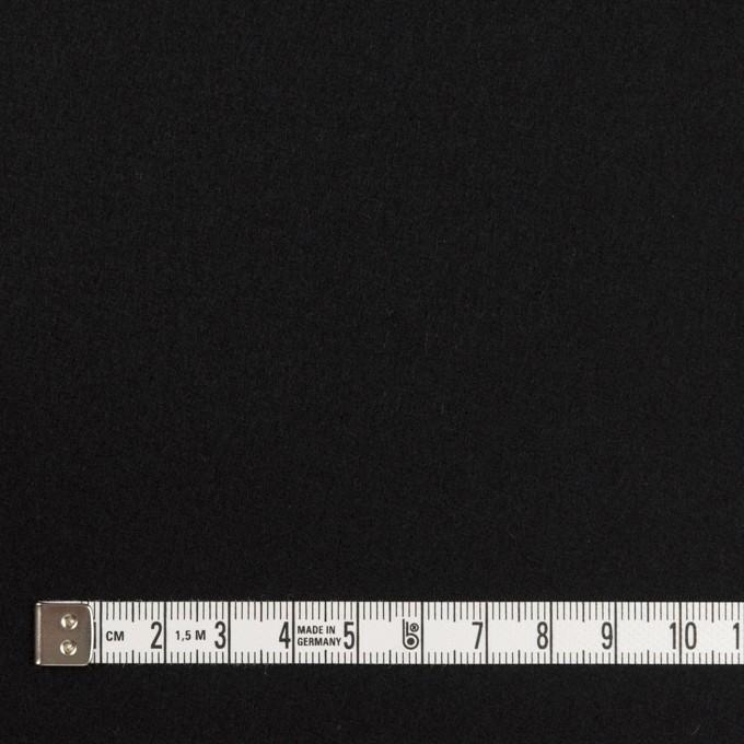 ウール×無地(ブラック)×フラノ(フランネル)_全2色 イメージ4