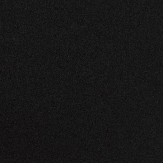 ウール×無地(ブラック)×フラノ(フランネル)_全2色 イメージ1