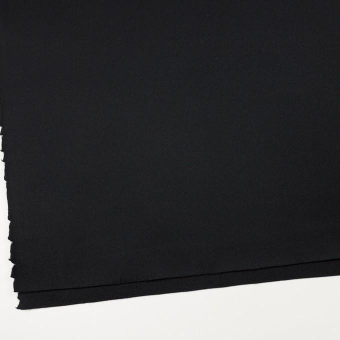 ウール×無地(ブラック)×ソフトメルトン イメージ2