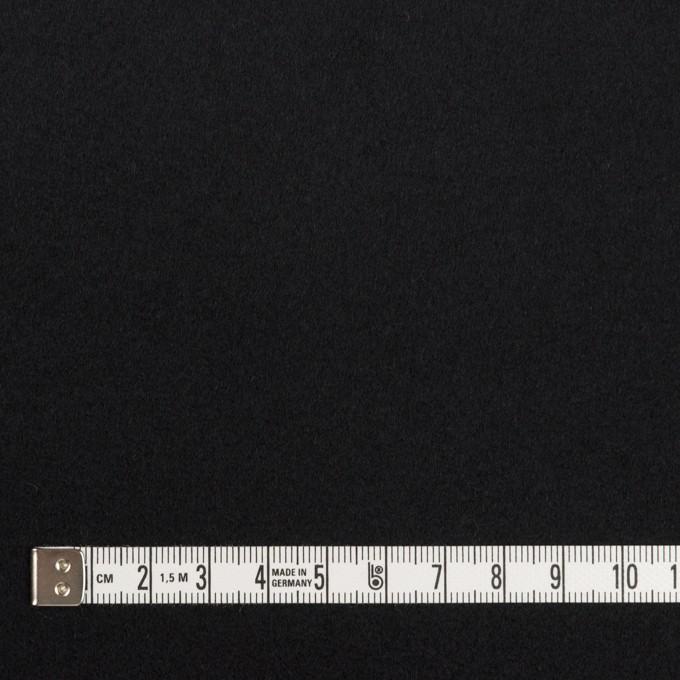 ウール×無地(ブラック)×ソフトメルトン イメージ4