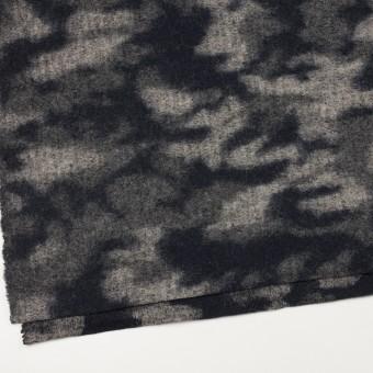 ウール&ナイロン×迷彩(ネイビー&グレー)×ジャガードニット サムネイル2