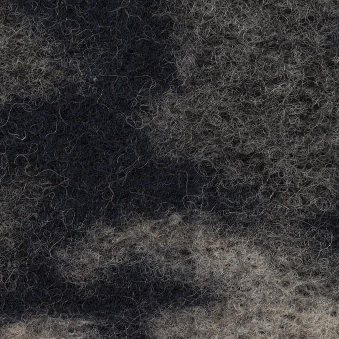 ウール&ナイロン×迷彩(ネイビー&グレー)×ジャガードニット イメージ1