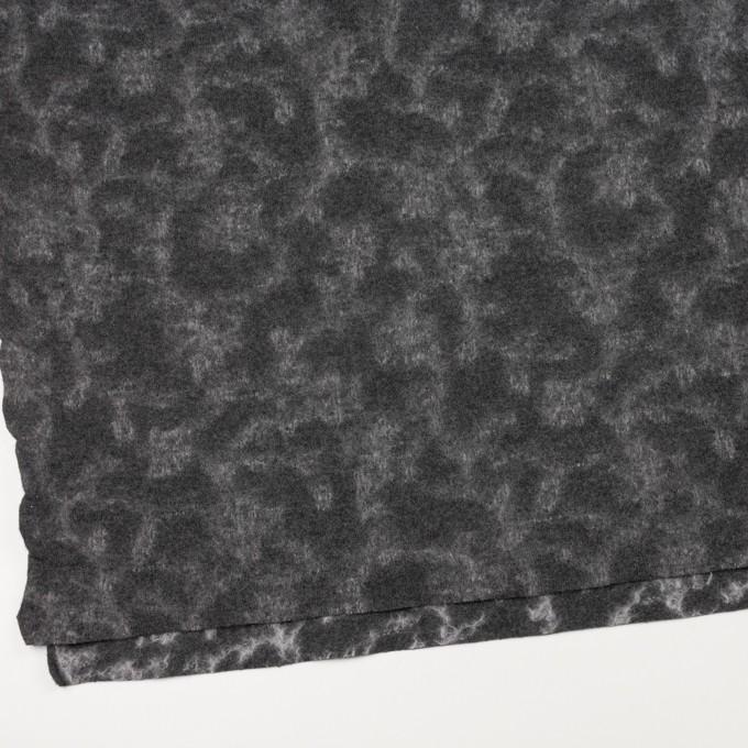 ウール×幾何学模様(チャコールグレー&ライトグレー)×ジャガードニット_全2色 イメージ2
