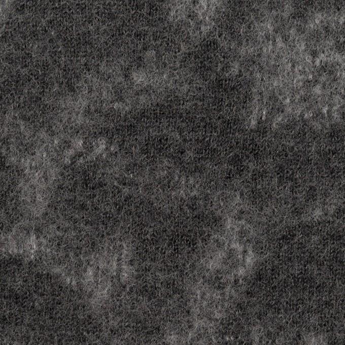 ウール×幾何学模様(チャコールグレー&ライトグレー)×ジャガードニット_全2色 イメージ1