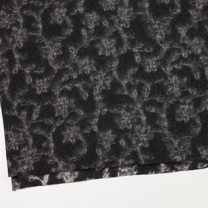 ウール×幾何学模様(ブラック&オフホワイト)×ジャガードニット_全2色 イメージ2