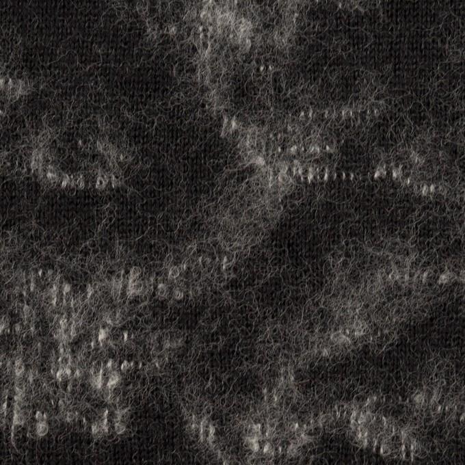 ウール×幾何学模様(ブラック&オフホワイト)×ジャガードニット_全2色 イメージ1