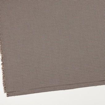 ポリエステル&レーヨン混×チェック(ベージュ&ブラウン)×千鳥格子ストレッチ_全2色 サムネイル2