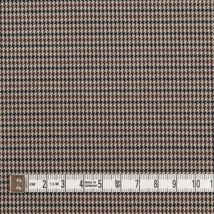 ポリエステル&レーヨン混×チェック(ベージュ&ブラウン)×千鳥格子ストレッチ_全2色 イメージ4