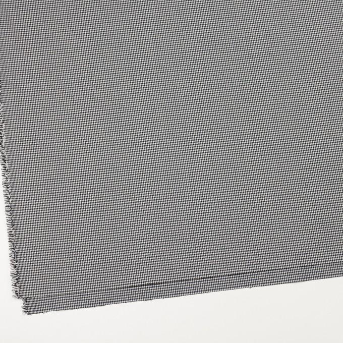 ポリエステル&レーヨン混×チェック(ネイビー&ブラック)×千鳥格子ストレッチ_全2色 イメージ2