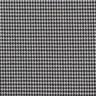 ポリエステル&レーヨン混×チェック(ネイビー&ブラック)×千鳥格子ストレッチ_全2色 サムネイル1