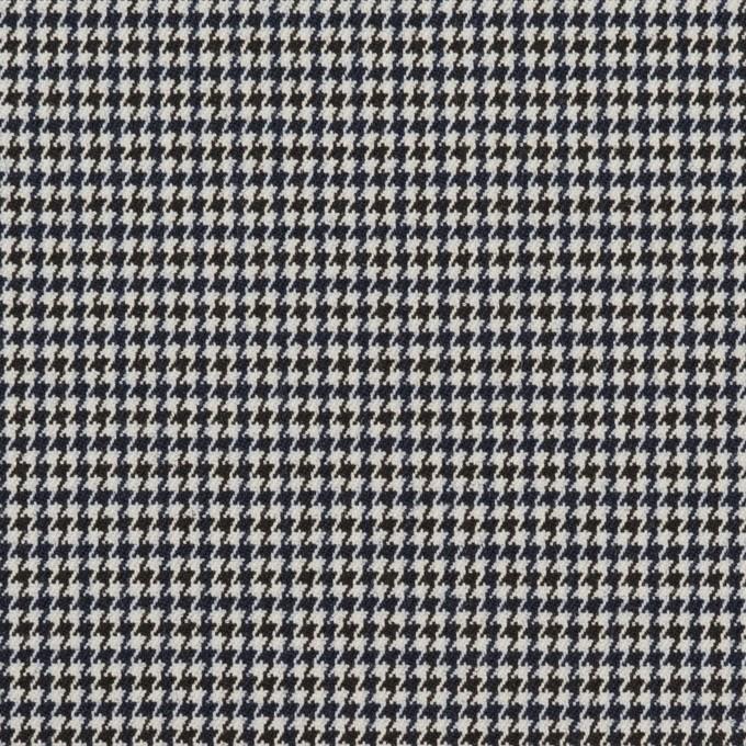 ポリエステル&レーヨン混×チェック(ネイビー&ブラック)×千鳥格子ストレッチ_全2色 イメージ1
