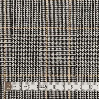コットン&ウール×チェック(アイボリー&ブラック)×二重織_全2色 サムネイル4
