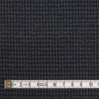 ウール&ポリウレタン×チェック(ダークネイビー&グレー)×千鳥格子ストレッチ サムネイル4