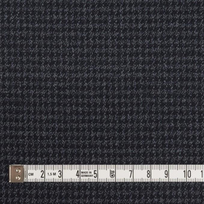 ウール&ポリウレタン×チェック(ダークネイビー&グレー)×千鳥格子ストレッチ イメージ4