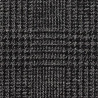 ウール×チェック(チャコールグレー)×ツイード サムネイル1