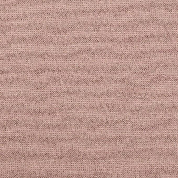 ウール×無地(グレイッシュピンク)×天竺ニット イメージ1