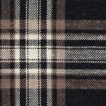 コットン×チェック(ブラック&モカ)×ビエラ サムネイル1