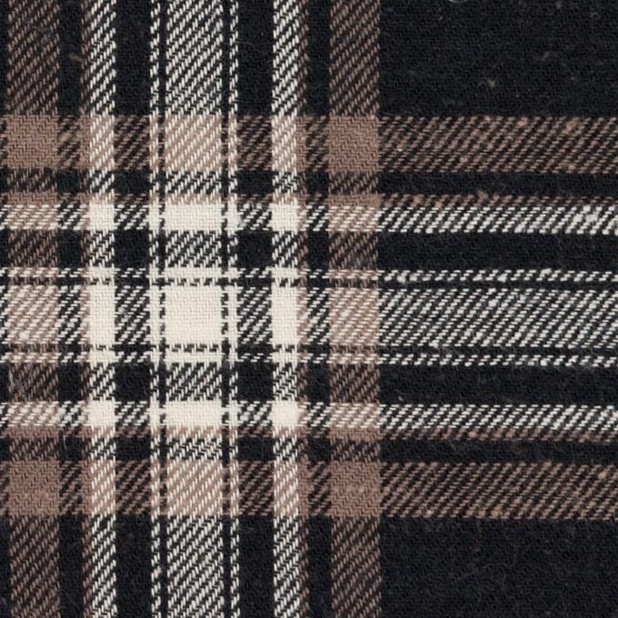 コットン×チェック(ブラック&モカ)×ビエラ イメージ1