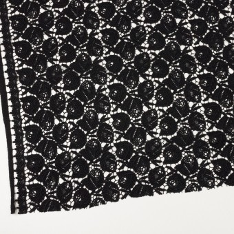 ウール×フラワー(ブラック)×ケミカルレース_全2色 サムネイル2