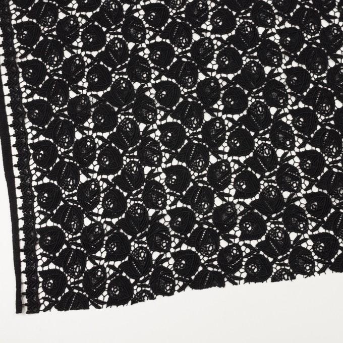 ウール×フラワー(ブラック)×ケミカルレース_全2色 イメージ2
