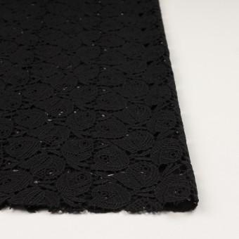 ウール×フラワー(ブラック)×ケミカルレース_全2色 サムネイル3