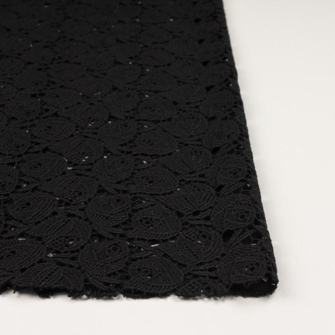 ウール×フラワー(ブラック)×ケミカルレース_全2色 イメージ3