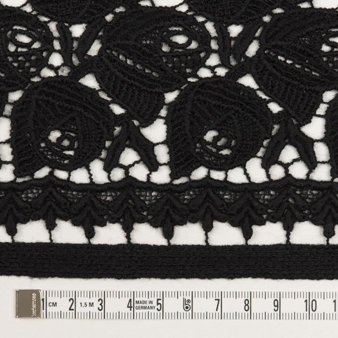 ウール×フラワー(ブラック)×ケミカルレース_全2色 イメージ6