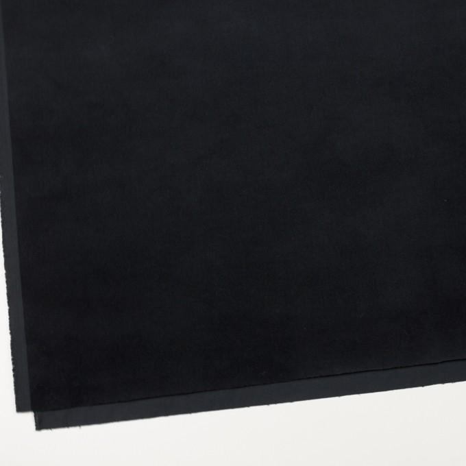 コットン&ポリウレタン×無地(ダークネイビー)×ベッチンストレッチ_全2色 イメージ2