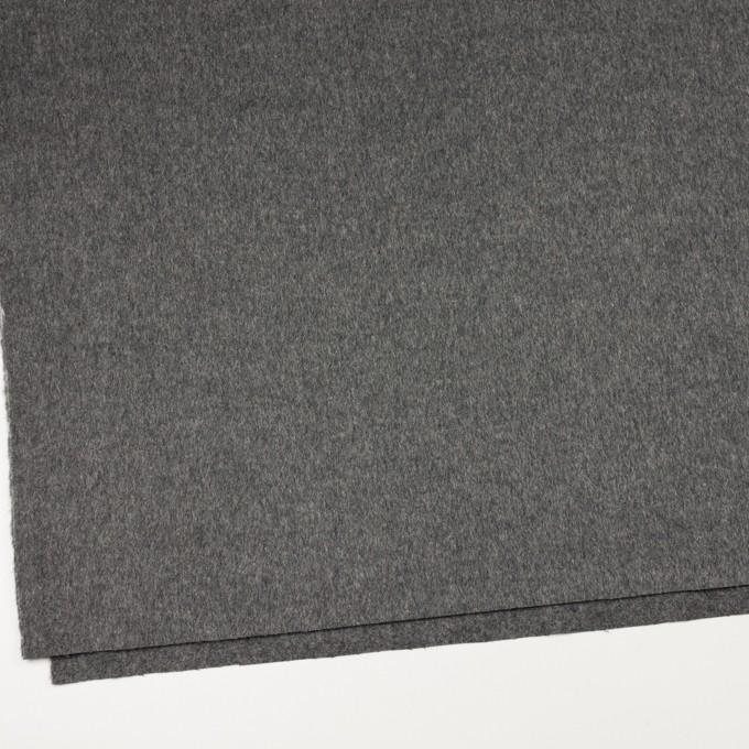ウール&カシミア×無地(グレー)×ビーバー イメージ2