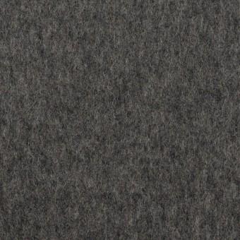 ウール×無地(チャコールグレー)×ソフトメルトン
