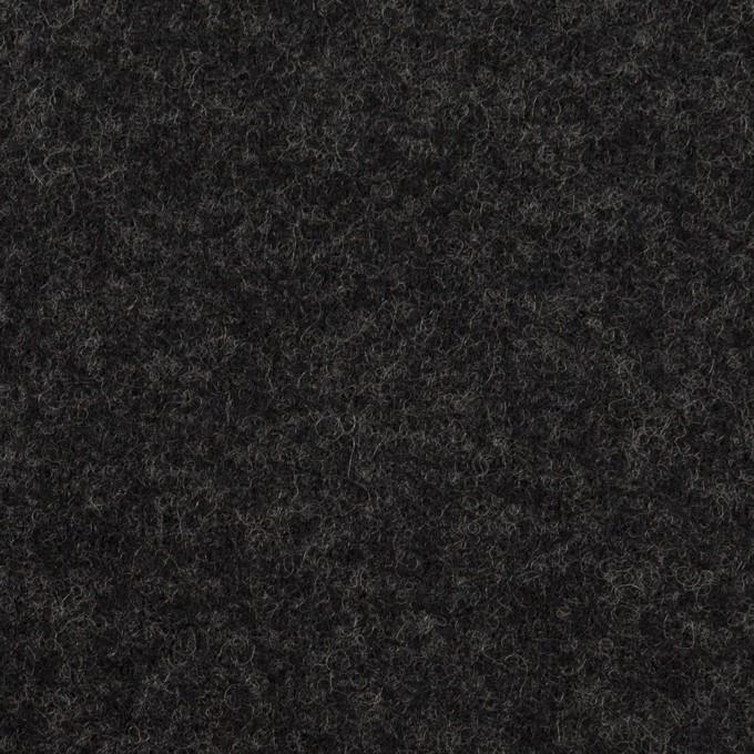 ウール×無地(チャコール)×圧縮ニット イメージ1